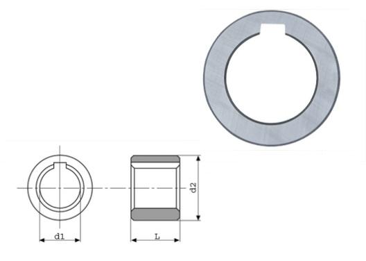 Freesdoornring DIN 2084 Form B   DKMTools - DKM Tools