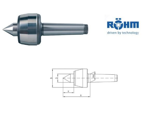 Rohm meedraaiend center 60 graden type 604 H | DKMTools - DKM Tools