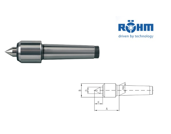 Rohm meedraaiend center 60 graden type 600   DKMTools - DKM Tools