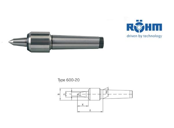 Rohm meedraaiend center 60 graden type 600 20 VL | DKMTools - DKM Tools