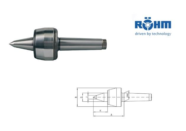 Rohm meedraaiend center 60 graden type 604 H VL | DKMTools - DKM Tools