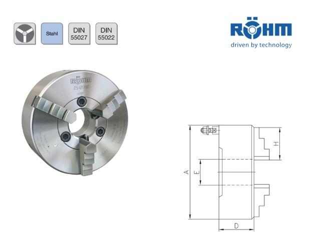 Rohm Klauwplaat 3 klauwplaat DIN55027 | DKMTools - DKM Tools