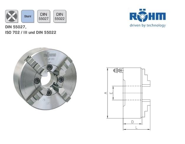 Rohm Klauwplaat 4 klauwplaat DIN55027 | DKMTools - DKM Tools