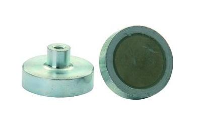 Platte grijpermagneet neodymium met schroefdraad   DKMTools - DKM Tools
