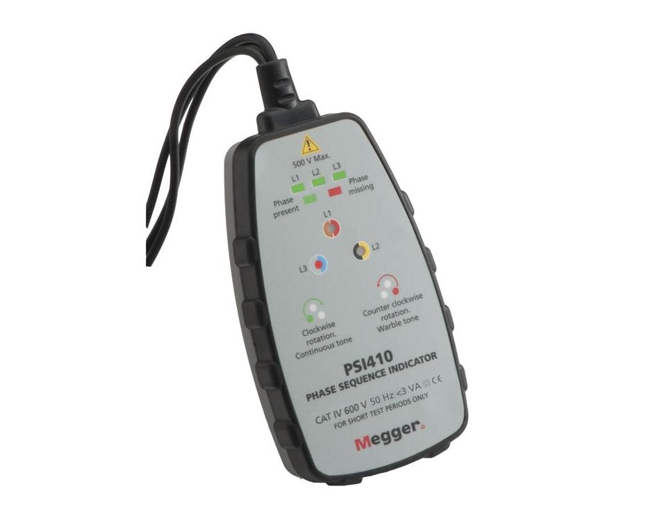 Megger PSI410. Fase rotatie tester   DKMTools - DKM Tools