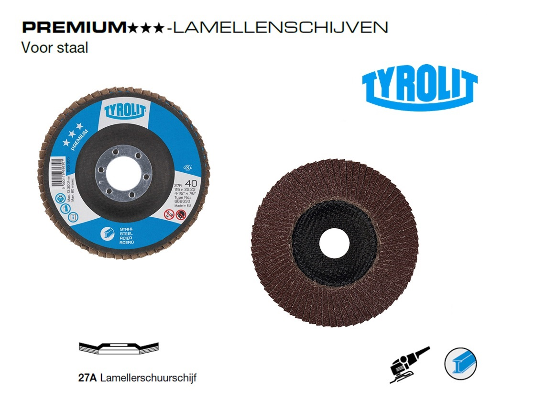 Lamellenschijven. 27A PREMIUM Staal   DKMTools - DKM Tools