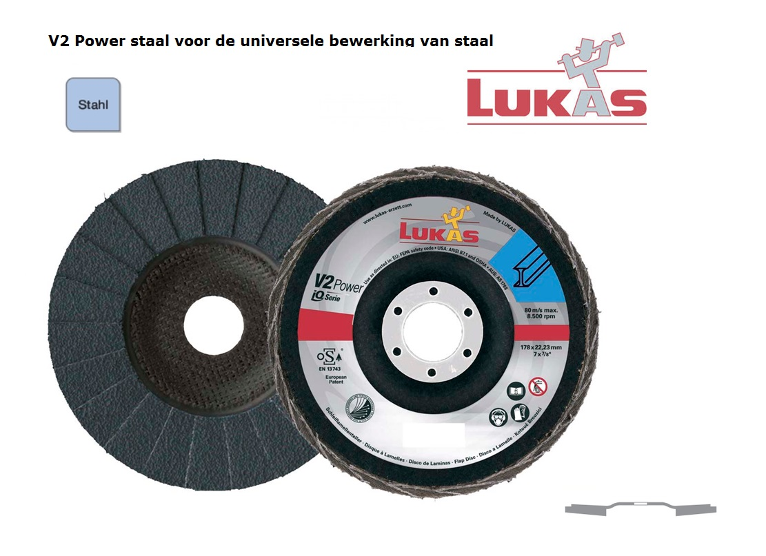 Lukas V2 Power.ZK Lamellenslijpschijven | DKMTools - DKM Tools