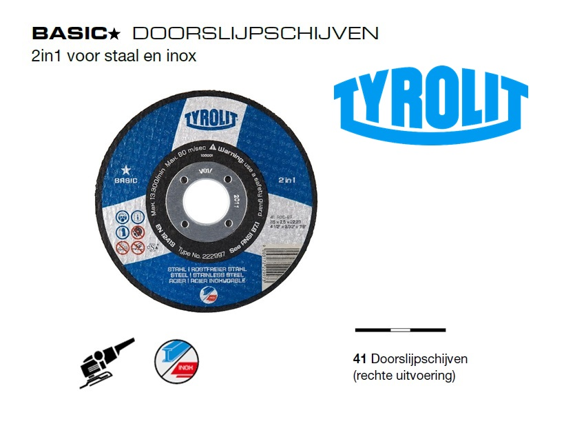 Doorslijpschijven 41 Basic 2 in 1 | DKMTools - DKM Tools