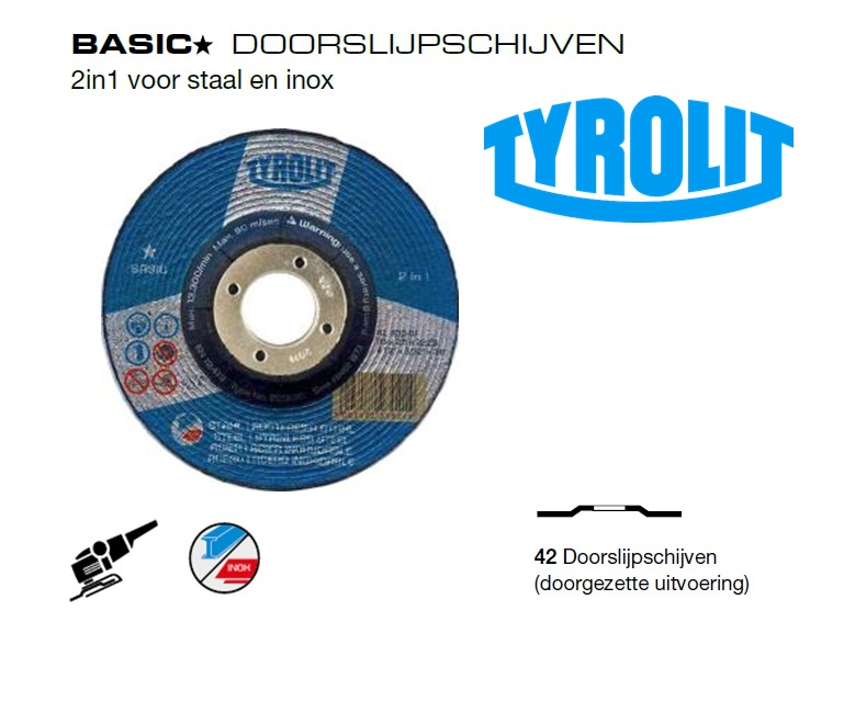 Doorslijpschijven 42 Basic 2 in 1 | DKMTools - DKM Tools
