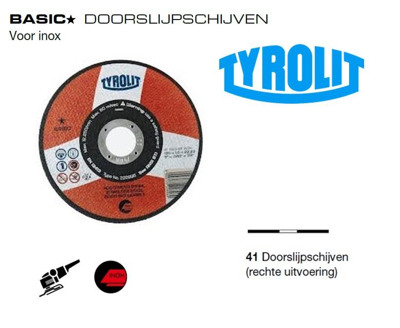 Doorslijpschijven 41 Basic inox | DKMTools - DKM Tools