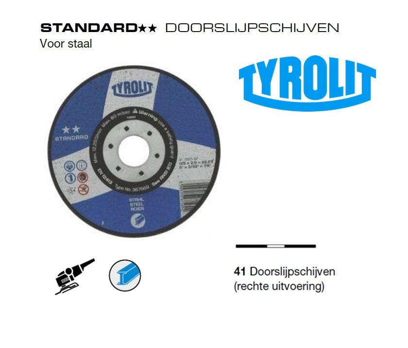 Doorslijpschijven 41 Standard Staal | DKMTools - DKM Tools