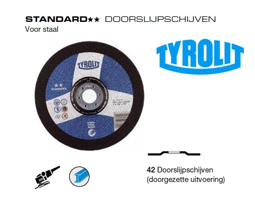 Doorslijpschijven 42 Standard Staal | DKMTools - DKM Tools