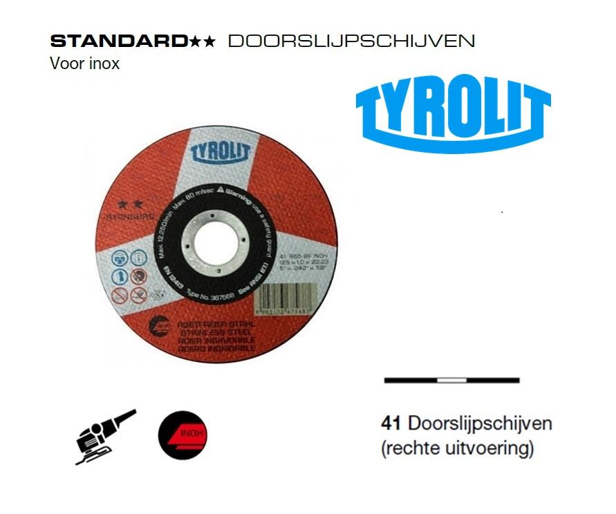 Doorslijpschijven 41 Standard inox | DKMTools - DKM Tools