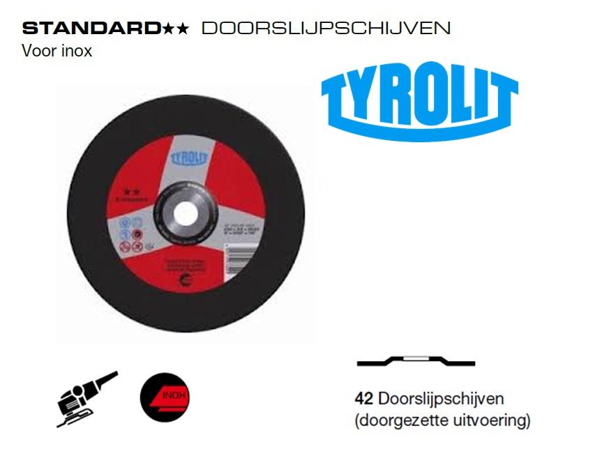 Doorslijpschijven 42 Standard inox | DKMTools - DKM Tools