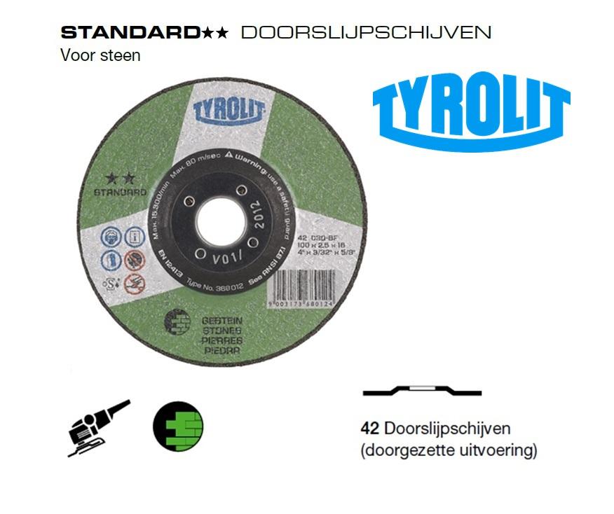 Doorslijpschijven 42 Standard steen | DKMTools - DKM Tools