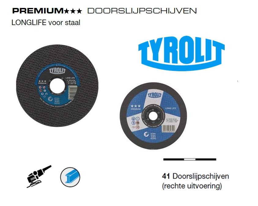 Doorslijpschijven 41 PREMIUM Staal | DKMTools - DKM Tools