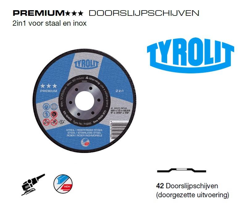Doorslijpschijven 42 PREMIUM 2 in 1 | DKMTools - DKM Tools