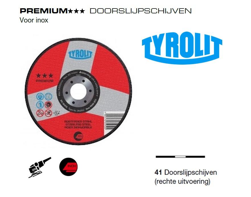 Doorslijpschijven 41 PREMIUM inox | DKMTools - DKM Tools
