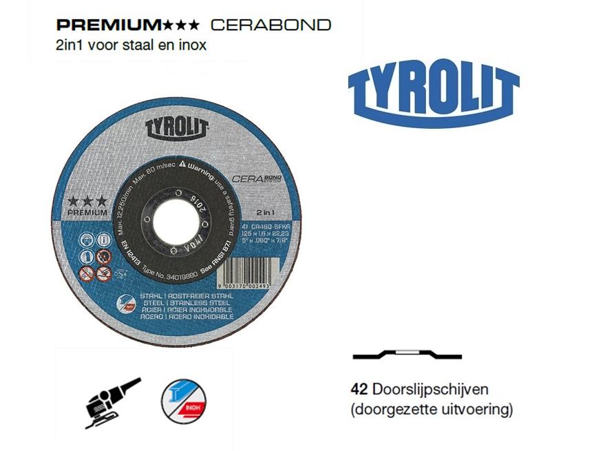 Doorslijpschijven 42 PREMIUM cerabond | DKMTools - DKM Tools
