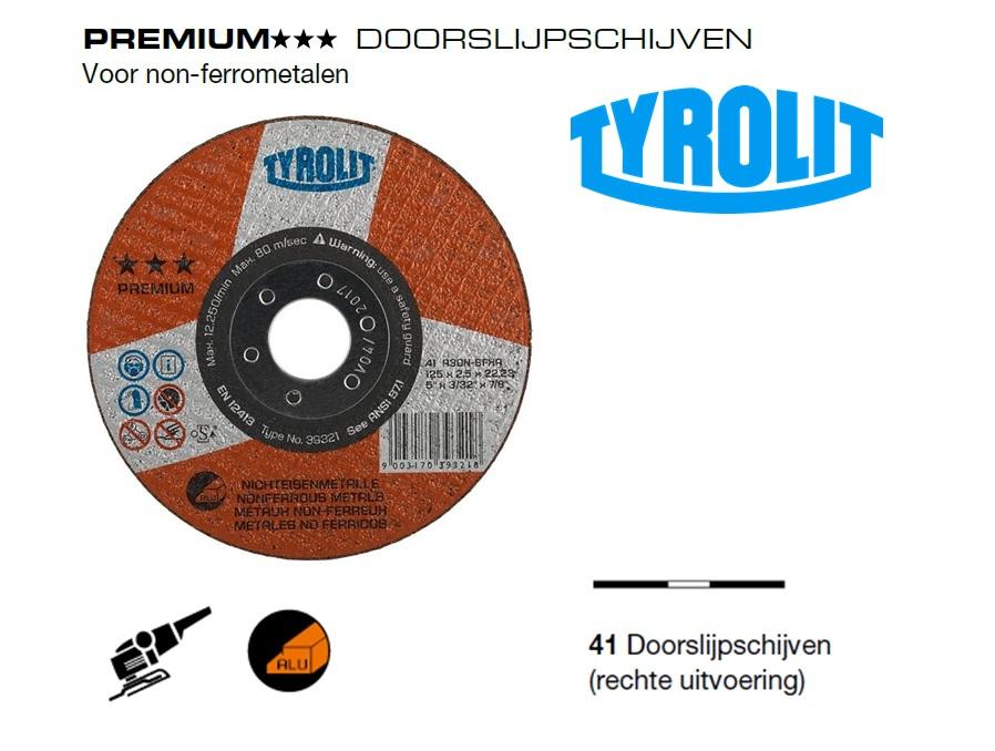 Doorslijpschijven 41 PREMIUM non ferrometalen | DKMTools - DKM Tools
