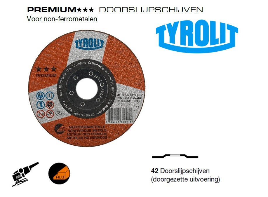Doorslijpschijven 42 PREMIUM non ferrometalen | DKMTools - DKM Tools