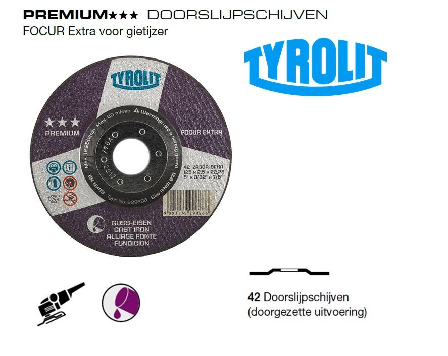 Doorslijpschijven 42 PREMIUM gietijzer | DKMTools - DKM Tools