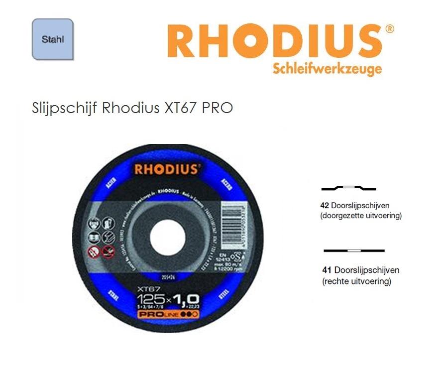 Doorslijpschijven Rhodius XT 67 TOP | DKMTools - DKM Tools