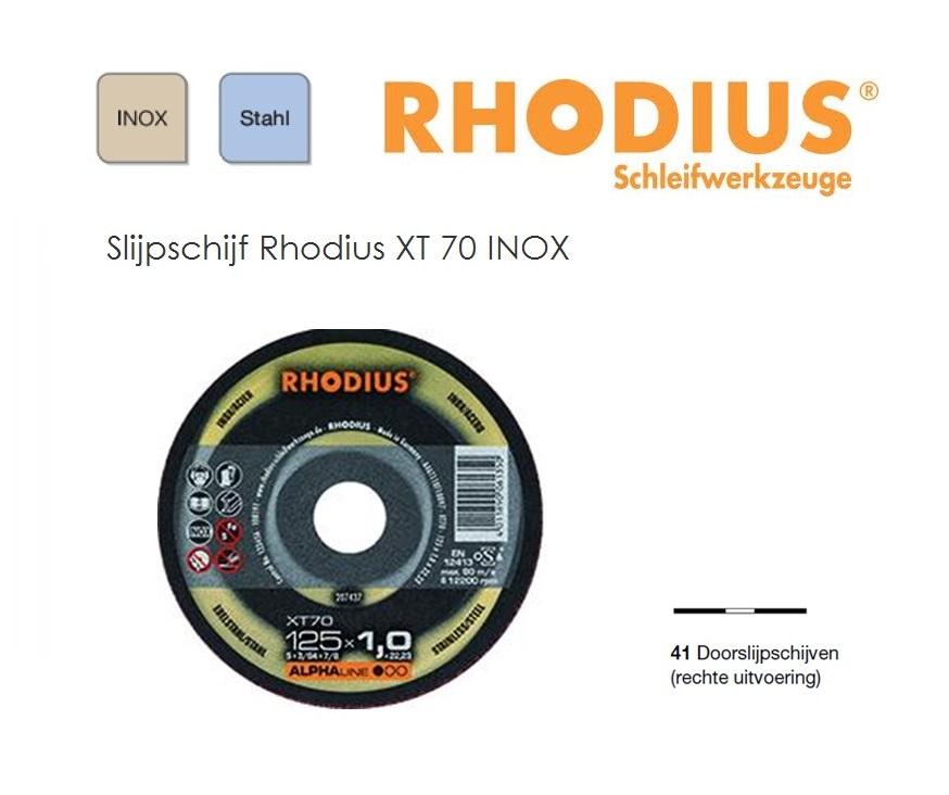 Doorslijpschijven Rhodius XT 70 ALPHA | DKMTools - DKM Tools