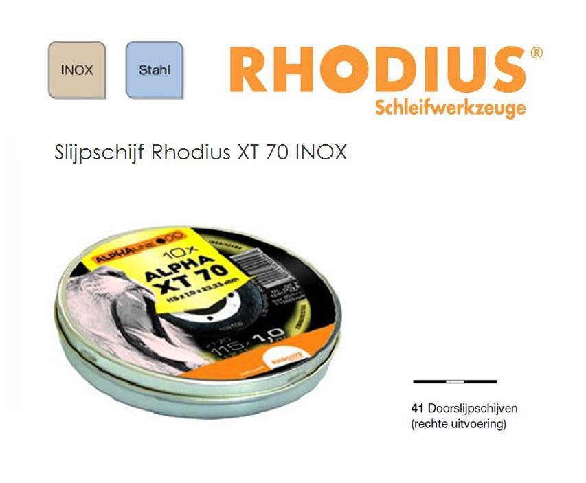 Doorslijpschijven Rhodius XT 70 ALPHA BOX | DKMTools - DKM Tools