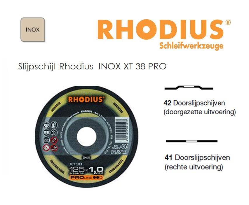 Doorslijpschijven Rhodius INOX XT 38 PRO | DKMTools - DKM Tools