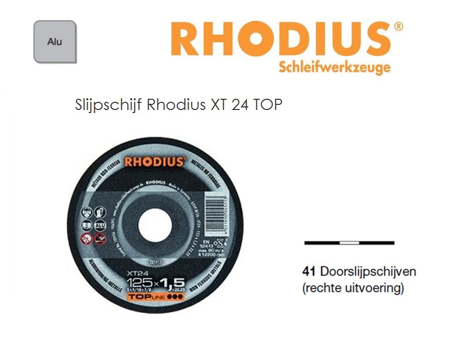 Doorslijpschijven Rhodius XT 24 TOP | DKMTools - DKM Tools