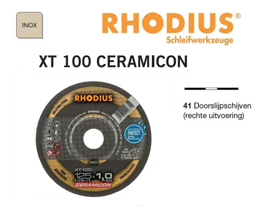 Doorslijpschijven Rhodius XT 100 Ceramicon | DKMTools - DKM Tools