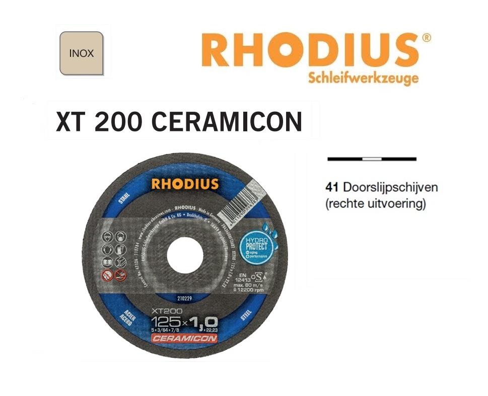 Doorslijpschijven Rhodius XT 200 Ceramicon | DKMTools - DKM Tools