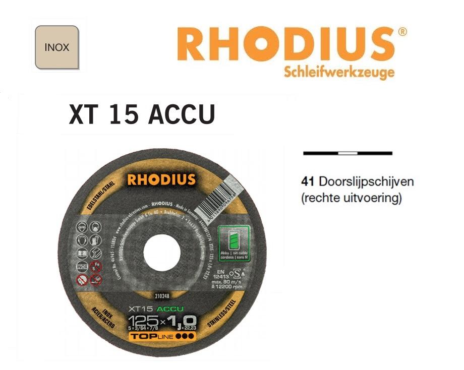 Doorslijpschijven Rhodius XT 15 Accu | DKMTools - DKM Tools