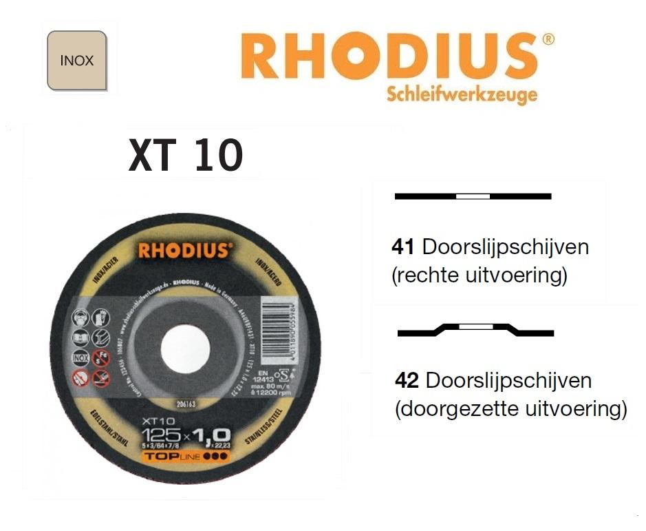 Doorslijpschijven Rhodius XT 10 | DKMTools - DKM Tools