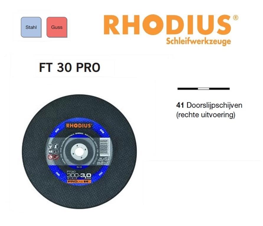 Doorslijpschijven Rhodius FT 30 PRO | DKMTools - DKM Tools