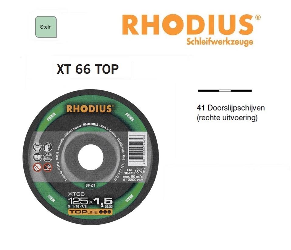 Doorslijpschijven Rhodius XT 66 TOP | DKMTools - DKM Tools
