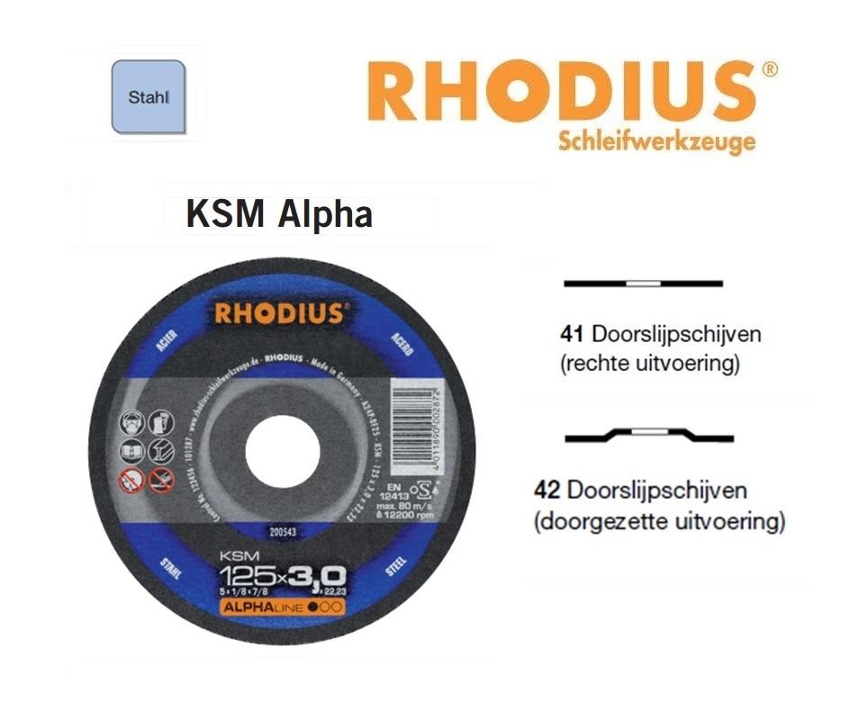 Doorslijpschijven Rhodius KSM Alpha | DKMTools - DKM Tools