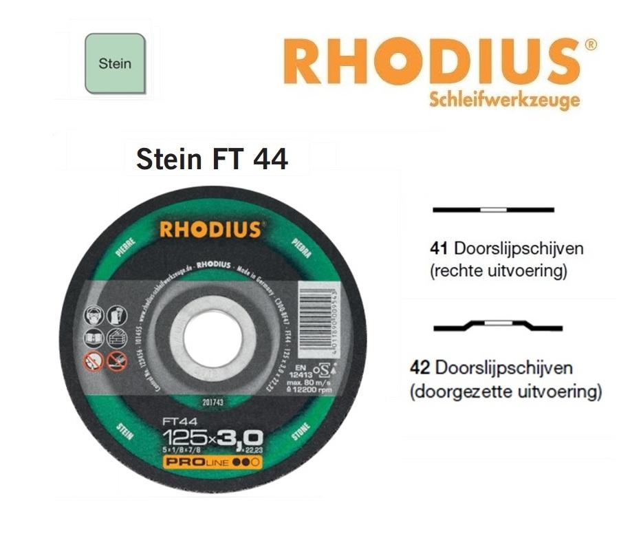 Doorslijpschijven Rhodius Stein FT 44 | DKMTools - DKM Tools