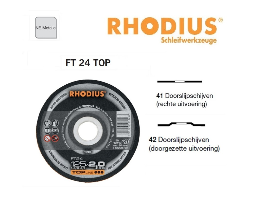 Doorslijpschijven Rhodius FT 24 TOP | DKMTools - DKM Tools