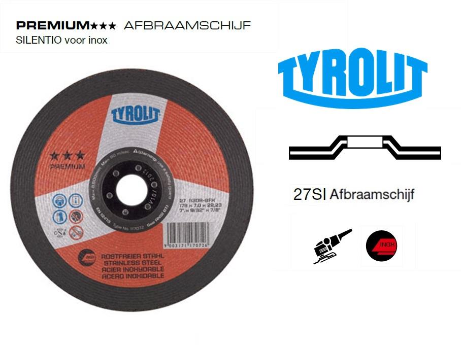 Afbraamschijven.PREMIUM SILENTIO inox | DKMTools - DKM Tools