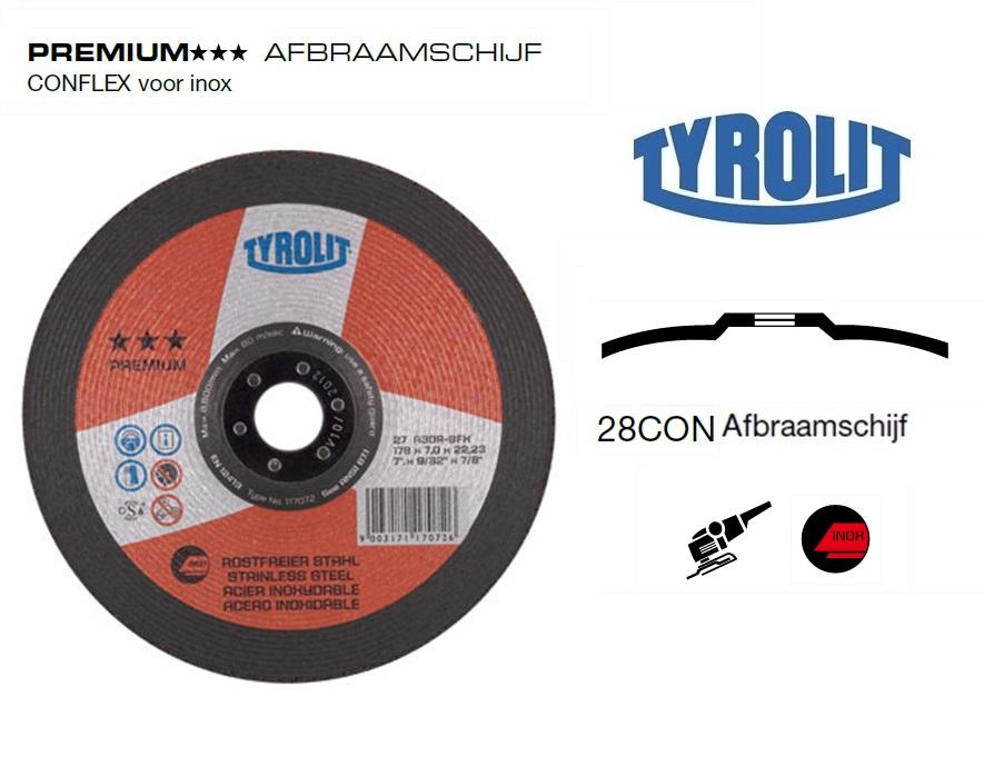 Afbraamschijven.PREMIUM CONFLEX inox | DKMTools - DKM Tools