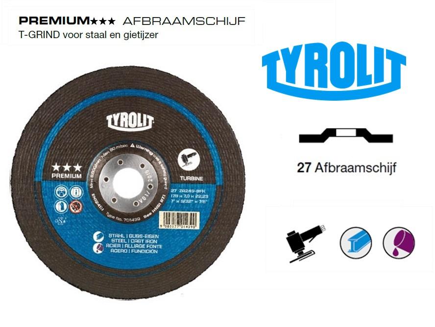 Afbraamschijven.PREMIUM T GRIND staal en gietijzer | DKMTools - DKM Tools