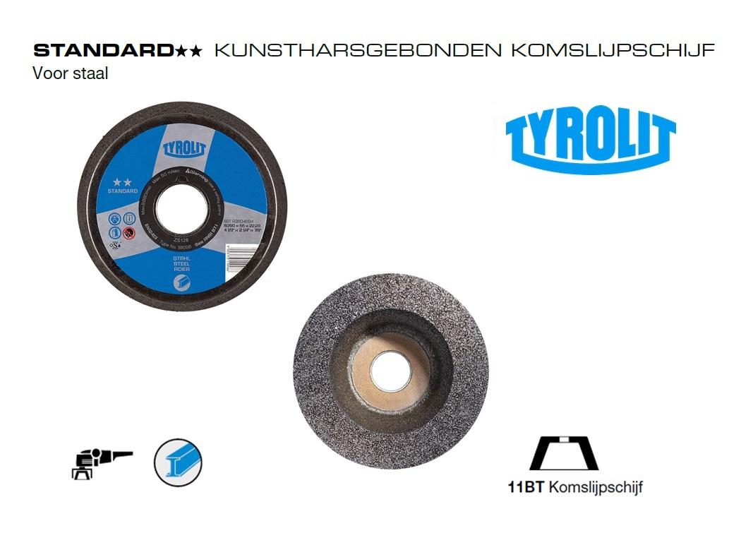 Komslijpschijven. 11BT Staal Standard | DKMTools - DKM Tools
