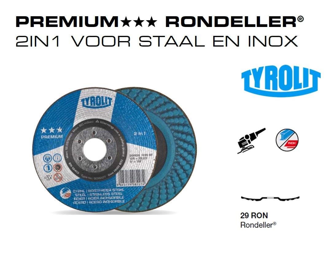 Rondeller. 2in1 voor staal en inox PREMIUM | DKMTools - DKM Tools