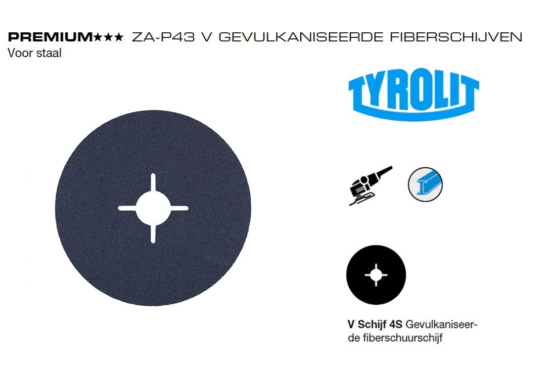 Fiberschijven. Za P43 V Tyrolit | DKMTools - DKM Tools