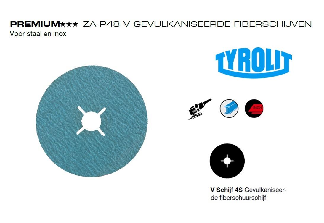 Fiberschijven. ZA P48 V Tyrolit | DKMTools - DKM Tools