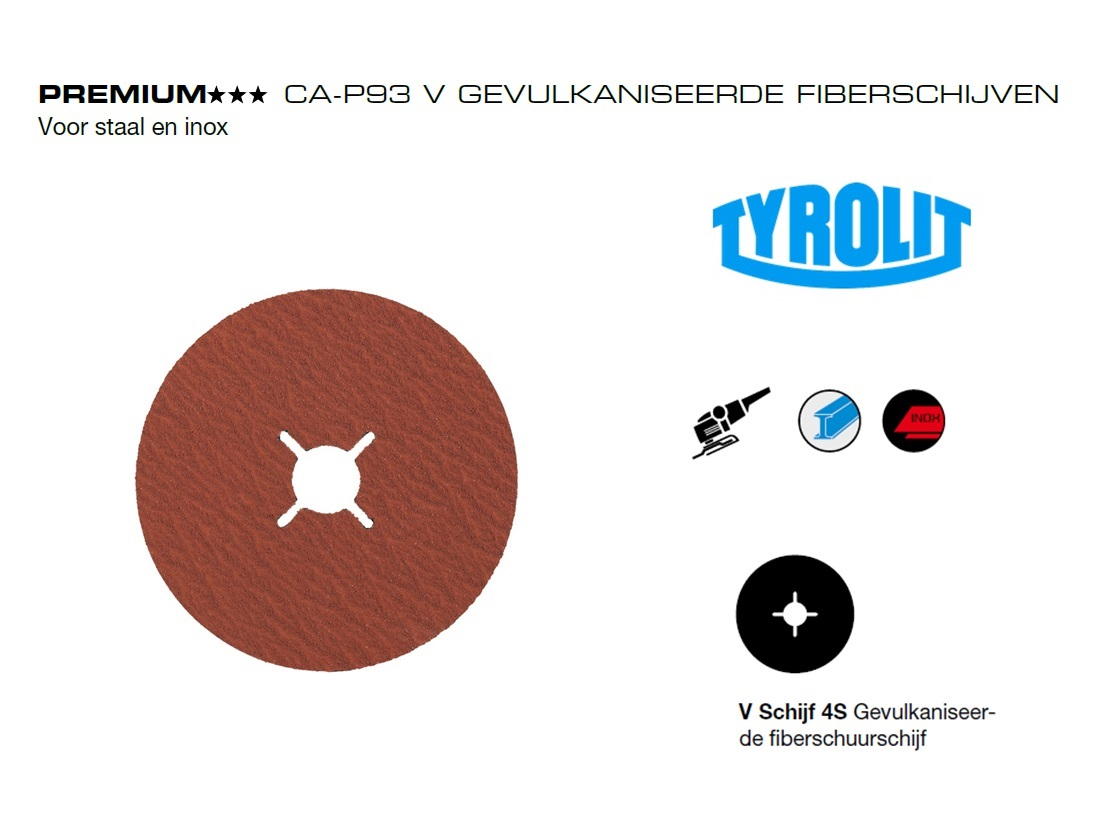 Fiberschijven. CA P93 V Tyrolit | DKMTools - DKM Tools