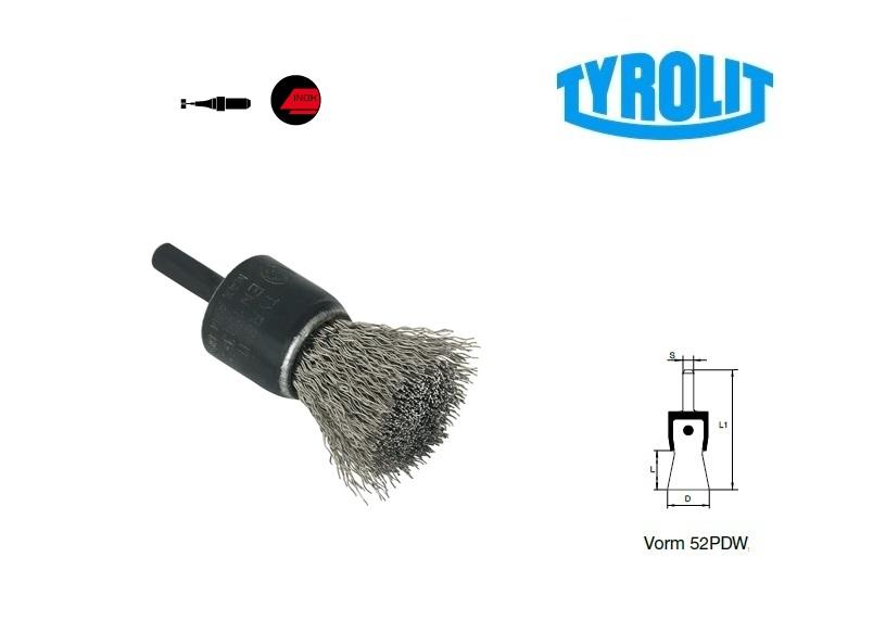 Penseelborstels. 52PDW inox | DKMTools - DKM Tools