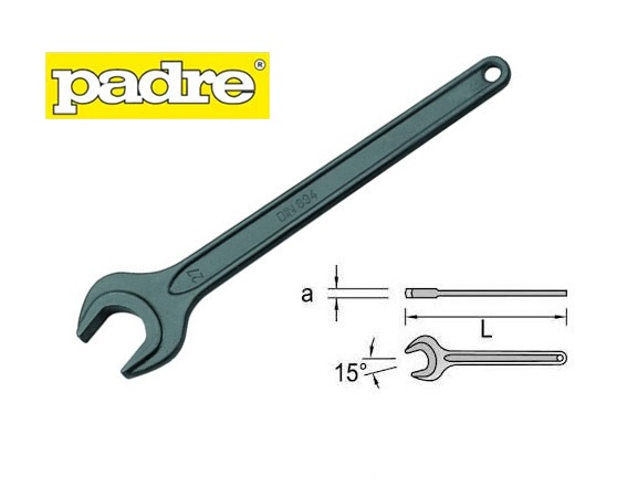 Machinesleutel enkel DIN 894 Padre | DKMTools - DKM Tools